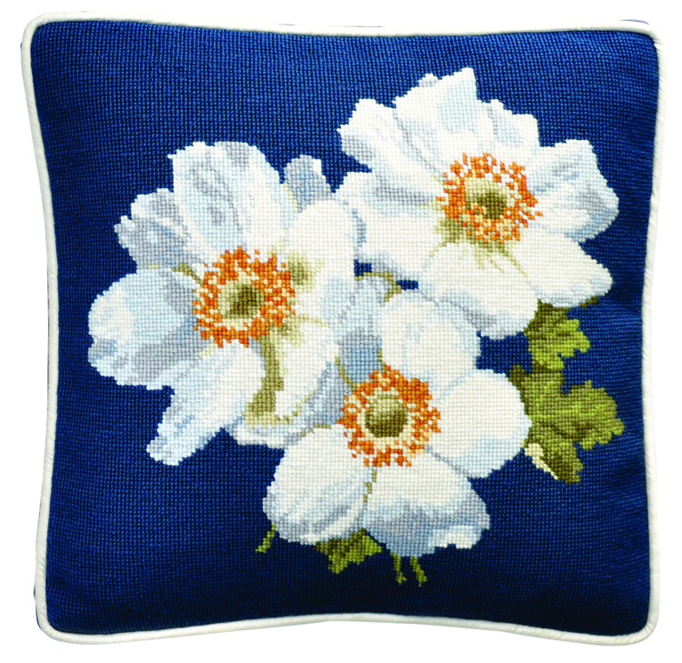 Elizabeth Bradley Home's Blooms Collection pansy pillow