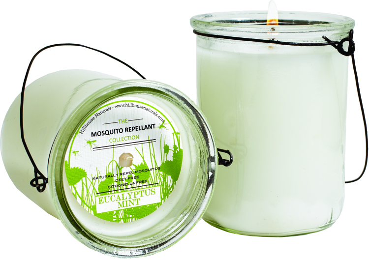 Hillhouse Naturals eucalyptus mint mosquito repellent hanging candle
