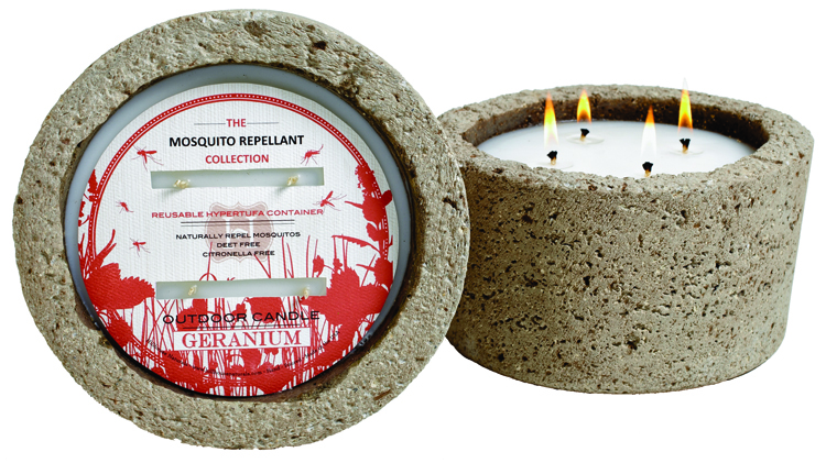 Hillhouse Naturals geranium mosquito repellant candle