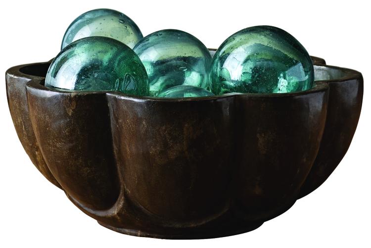 Indian petal stone bowl