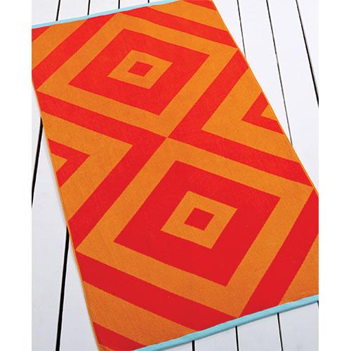 Martha Stewart beach towel in spice