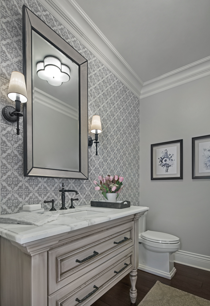 Meg Corley Premier Interiors - Powder Room