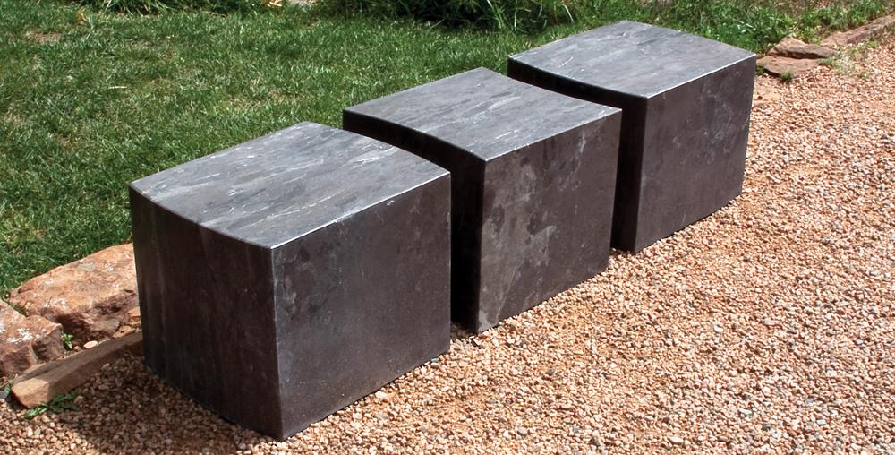 Stone Forest garden benches
